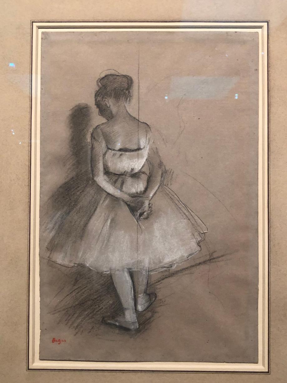 Danseuse debout, les mains croisées derrière le dos 1874 Collection David Lachenmann