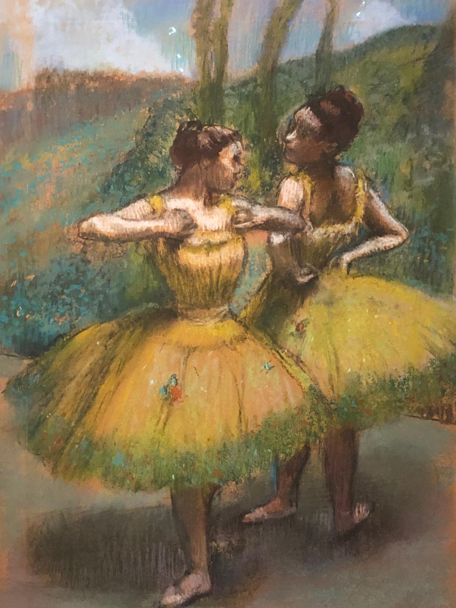 Deux danseuses en jaune vers 1896 Collection particulière