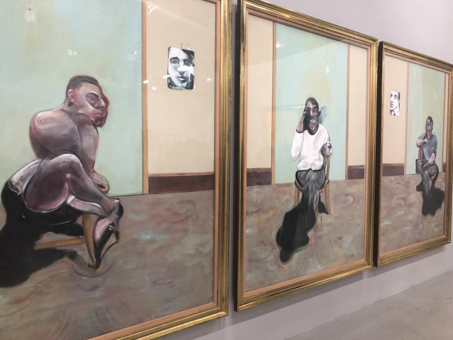 Trois portraits : portrait posthme de George Dyer ; autoportrait ; portrait de Lucian Freud