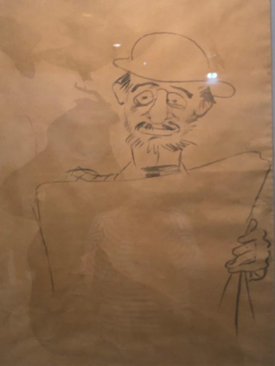 Autoportrait du peintre lisant son journal, au dos l'affiche Le Divan Japonais 1893