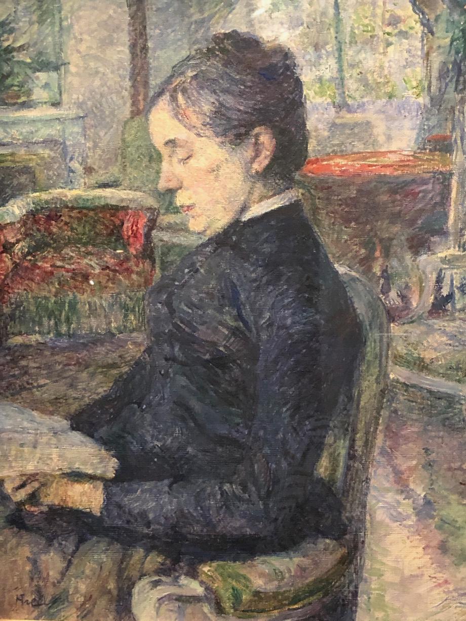 La Comtesse Adèle de Toulouse-Lautrec dans le salon du château de Malromé vers 1886 1887 Albi, musée Toulouse-Lautrec