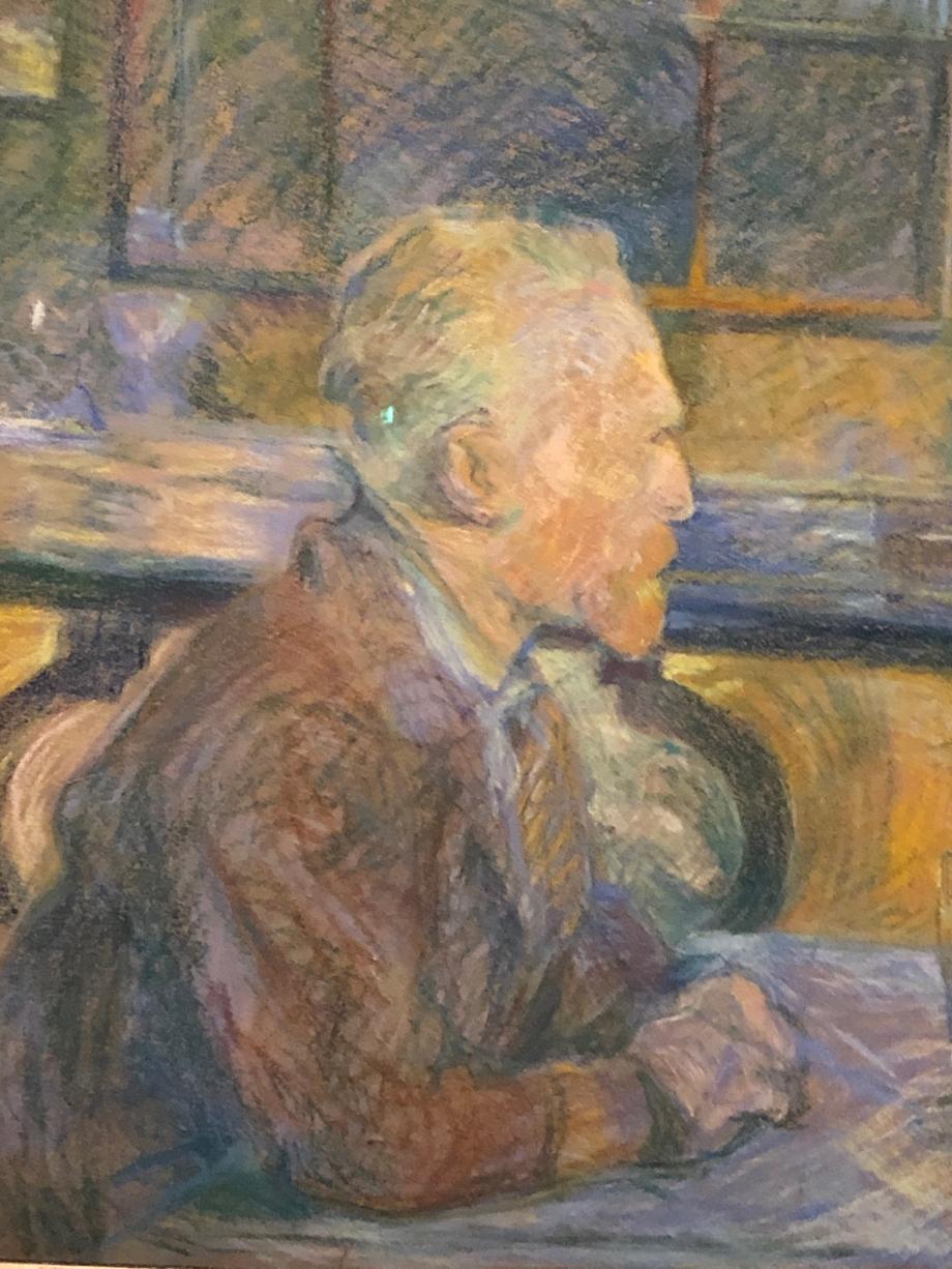 Portrait de Vincent Van Gogh 1887 Amsterdam, Van Gogh Museum Le portrait de Van Gogh le situe dans le café de sa maîtresse, Agostina Segatori