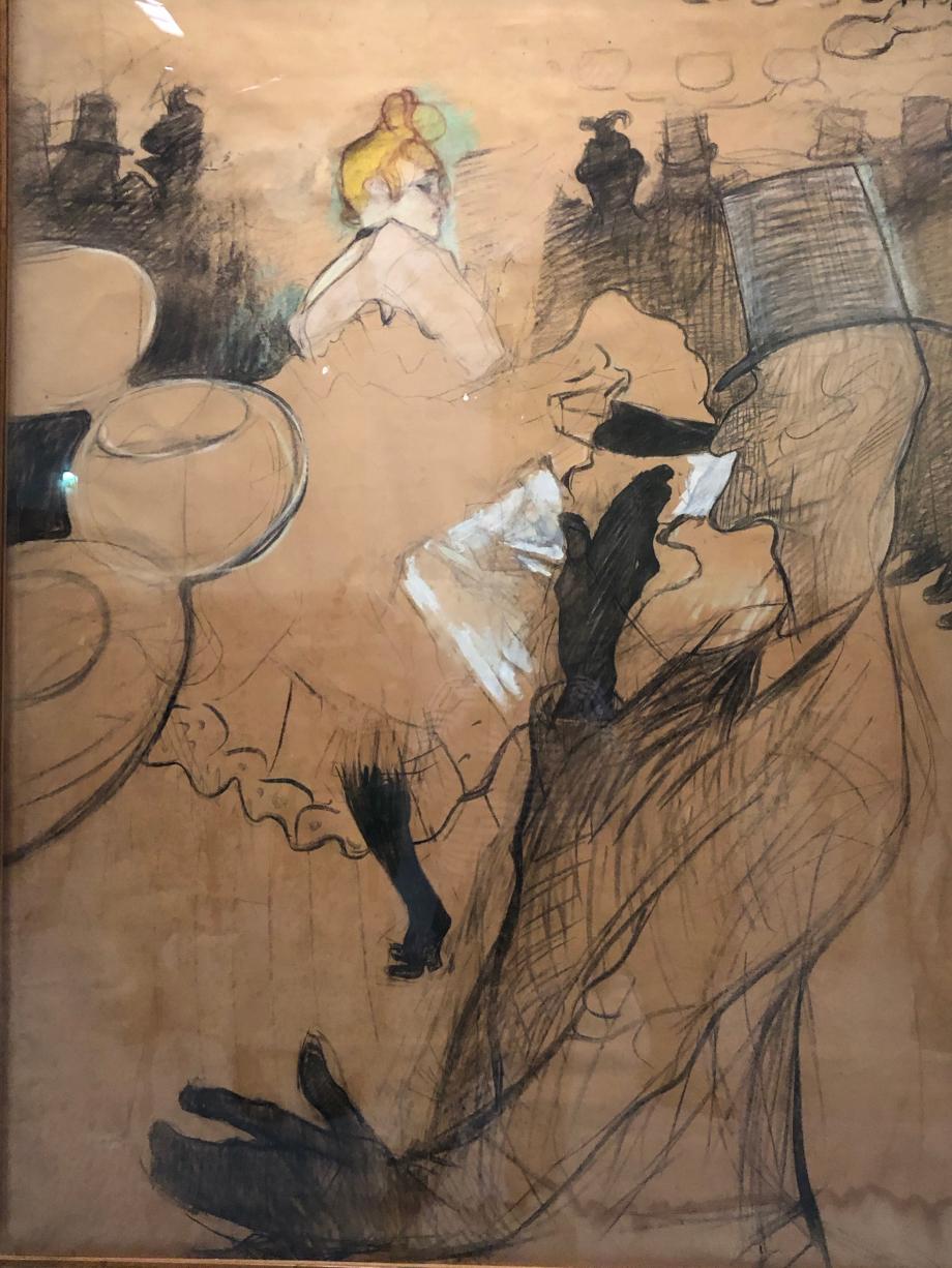 Moulin Rouge. La Goulue et Valentin le Désossé 1891 Albi, musée Toulouse-Lautrec