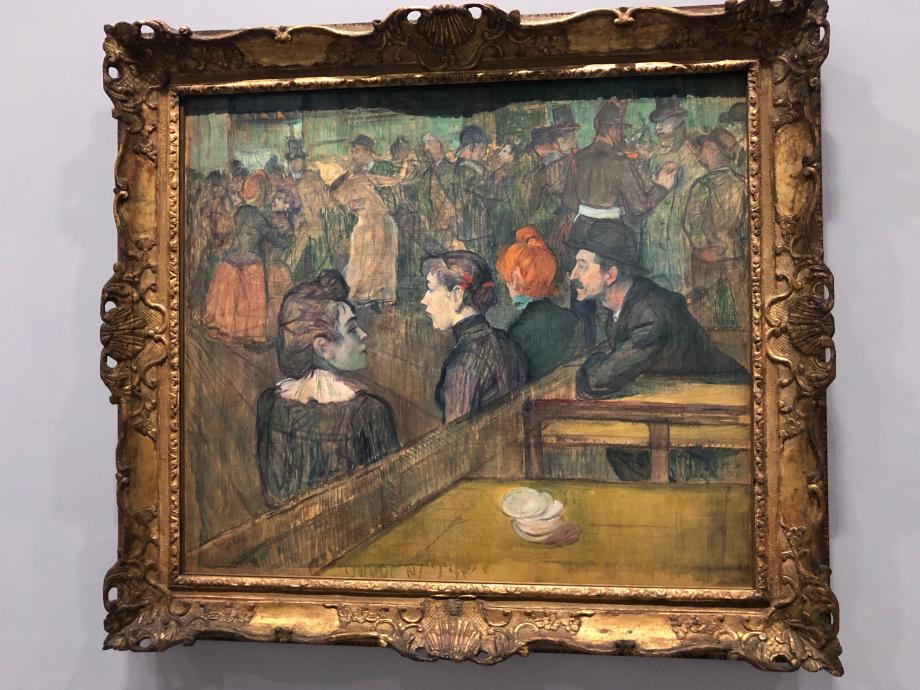 Bal du Moulin de la Galette 1889 Chicago, the Art Institute of Chicago