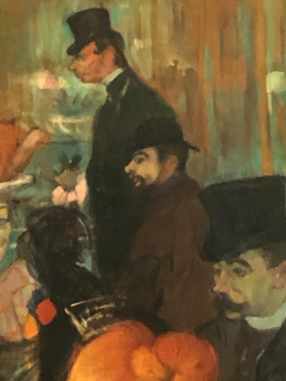 Détail du tableau et on aperçoit Toulouse-Lautrec