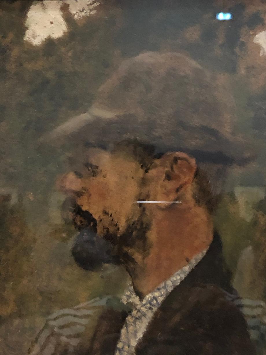 Edouard Vuillard Profil de Toulouse-Lautrec vers 1898 Alibi, musée Toulouse-Lautrec
