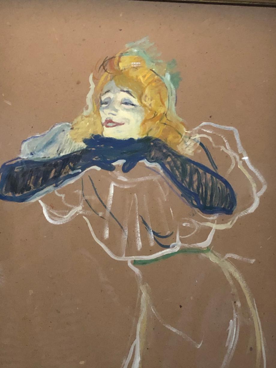 Yvette Guilbert chantant Linger, Longer Loo 1894 Moscou, Musée d'Etat des Beaux Arts Pouchkine