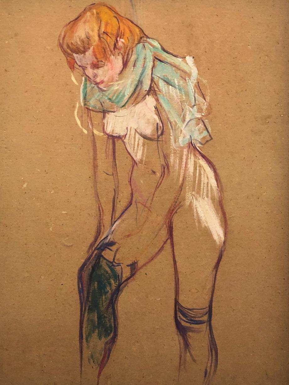Femme qui tire son bas 1894 Albi, Musée Toulouse-Lautrec