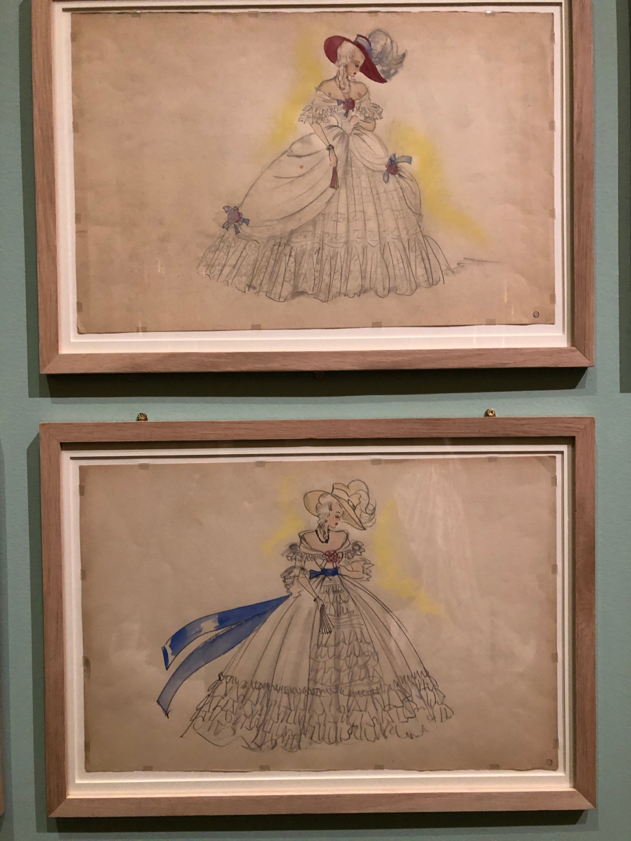 Georges Annenkov Maquettes de costume (robe de Marie-Antoinette) Film L'affaire du collier de la Reine de Marcel L'Herbier en 1945