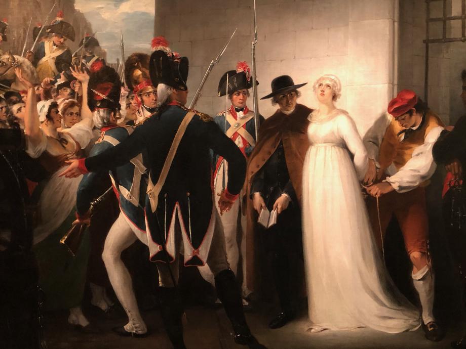 William Hamilton Marie-Antoinette conduite à son exécution le 16 octobre 1793