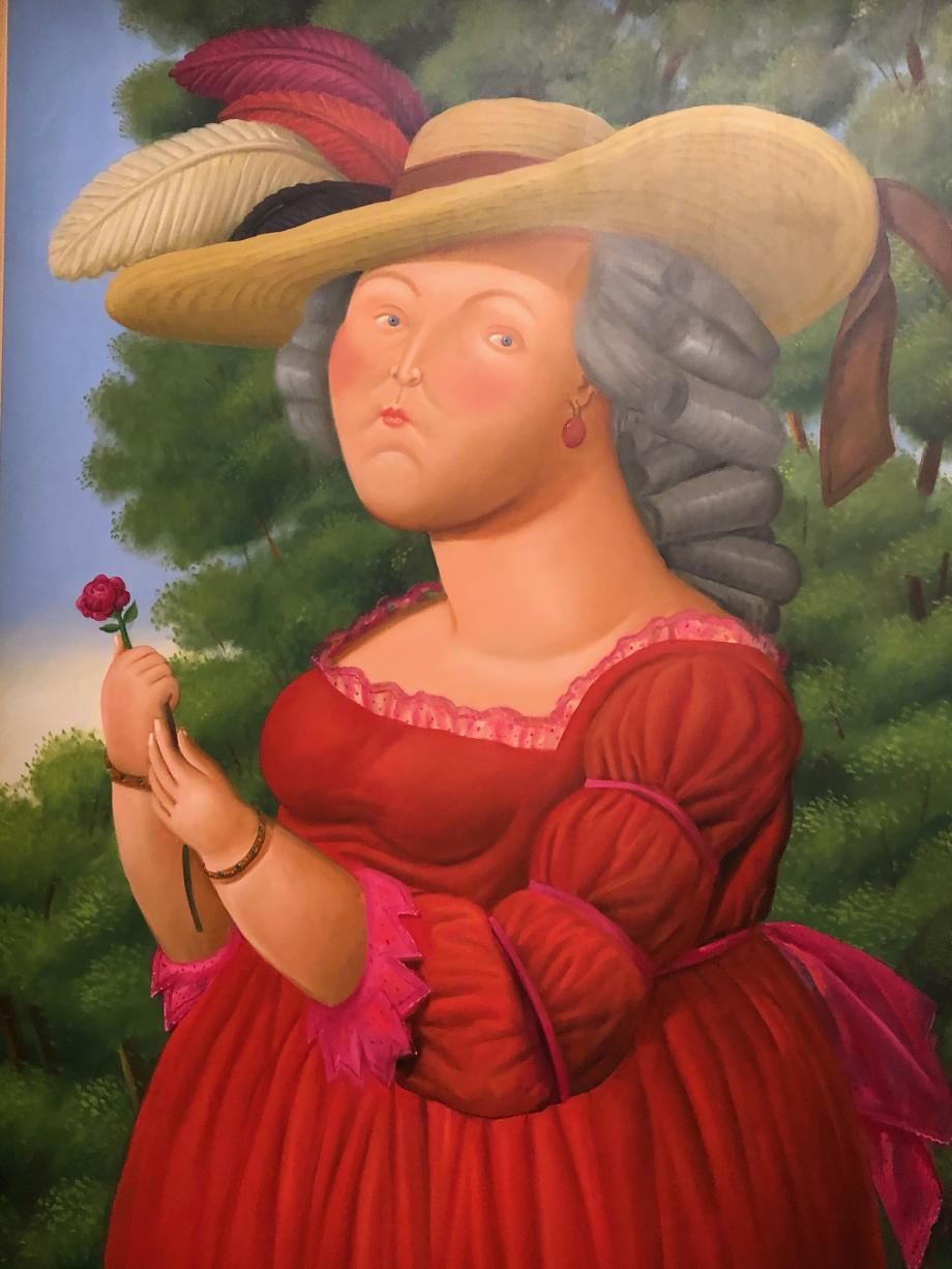 Fernando Botero Maria Antonieta after Vigée Le Brun