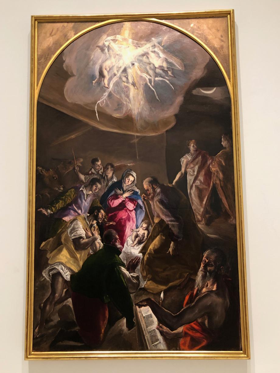 l'Adoration des bergers vers 1579 Coleccion Fundacion Botin
