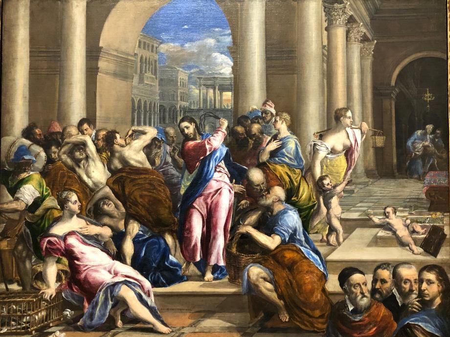 Le Christ chassant les marchands du Temple vers 1575 Minneapolis, Institute of Art