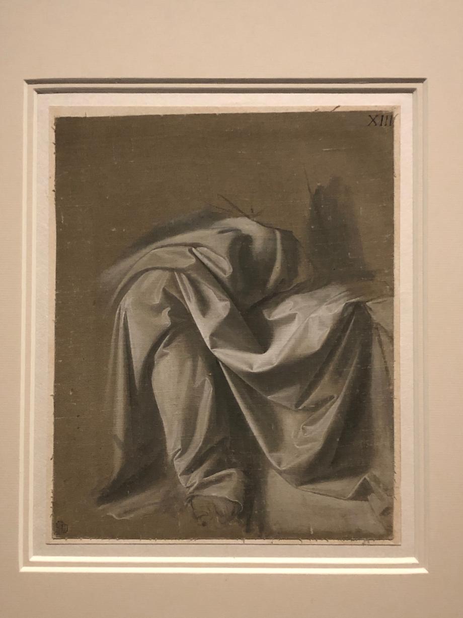 Léonard de Vinci Draperie Jabach XIIII Figure assise Paris, fondation Custodia