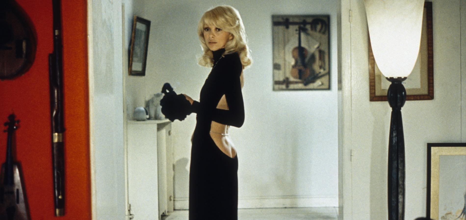 Mireille Darc et la fameuse robe