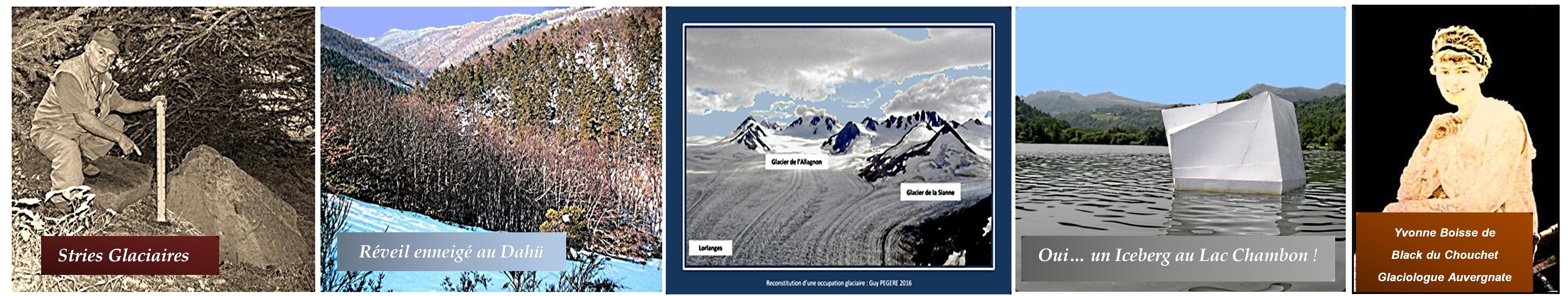 Guy PEGERE : Glaciations Quaternaire de la Montagne Auvergne