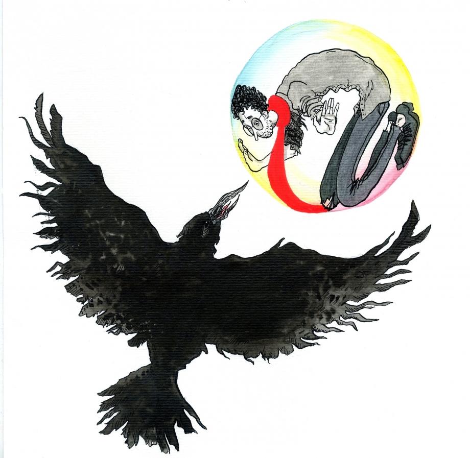 le corbeau demanda : que fais-tu ici créature humaine ?