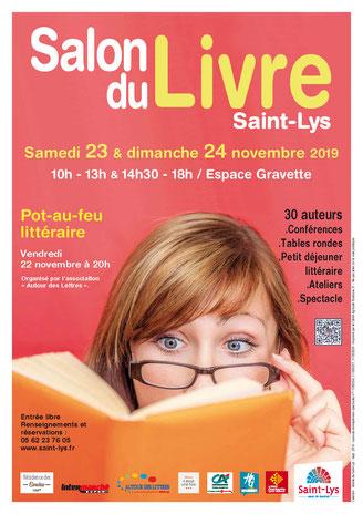 Affiche Salon Livre Saint-Lys 24 11 19