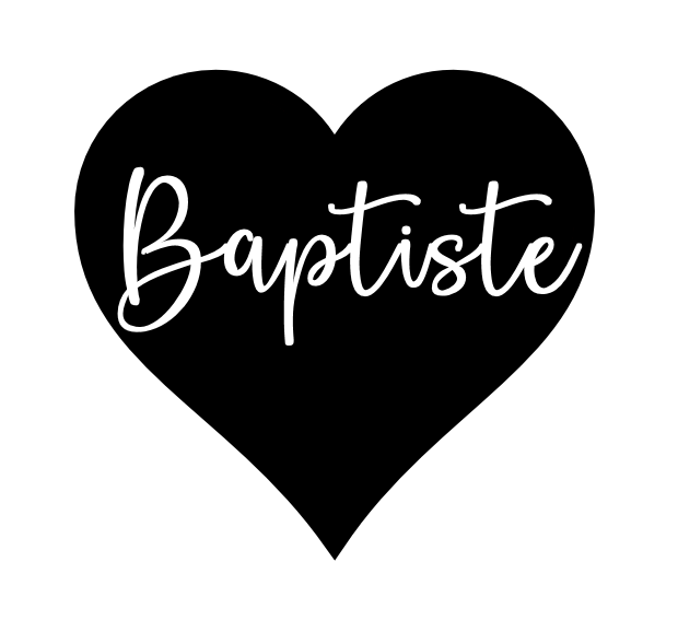 Baptiste dans coeur