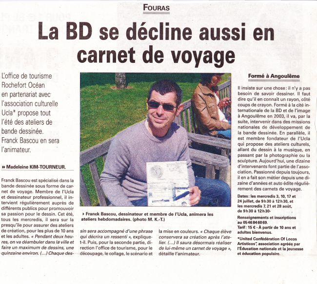 Ateliers Carnet de voyage en BD - L'Hebdo