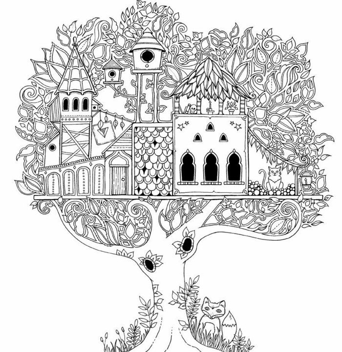 05-bizzarre-mandala-simple-coloriage-anti-stress-mandala-fleur-et-arbre-avec-maisons-a-colorier.jpg