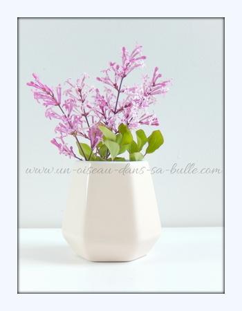 carte postale fleur bouquet de lila un-oiseau-dans-sa-bulle.com