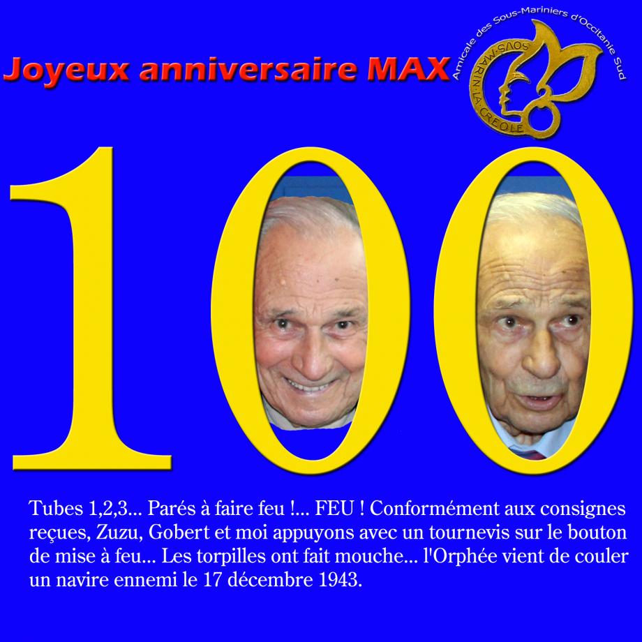 anniv 100 ans Max