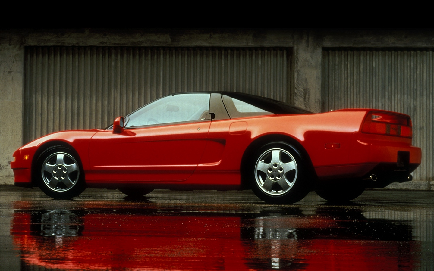 Acura NSX 1990 acura_nsx_red_side_view_style_auto_reflection_wet_asphalt_13676_1440x900