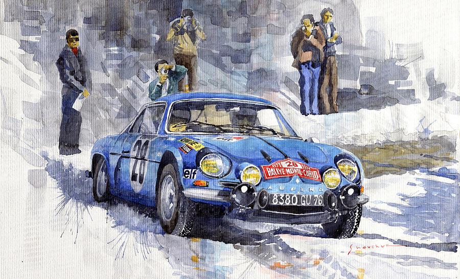 Alpine A110 1600S Andersson-Stone Monte Carlo 1971 YuriyShevchuk-fineartamerica com 1971-rallye-monte-carlo-alpine-renault-a110-1600-andersson-stone-winner-yuriy-shevchuk