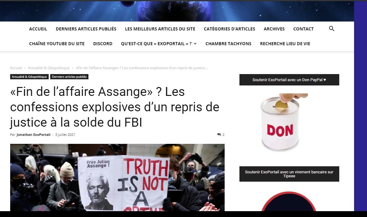 Assange victime de la Cabale démocratomondialiste exoportail com 040721