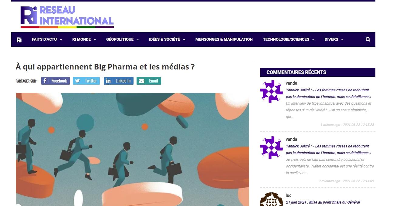 Big Pharma reseauinternational com