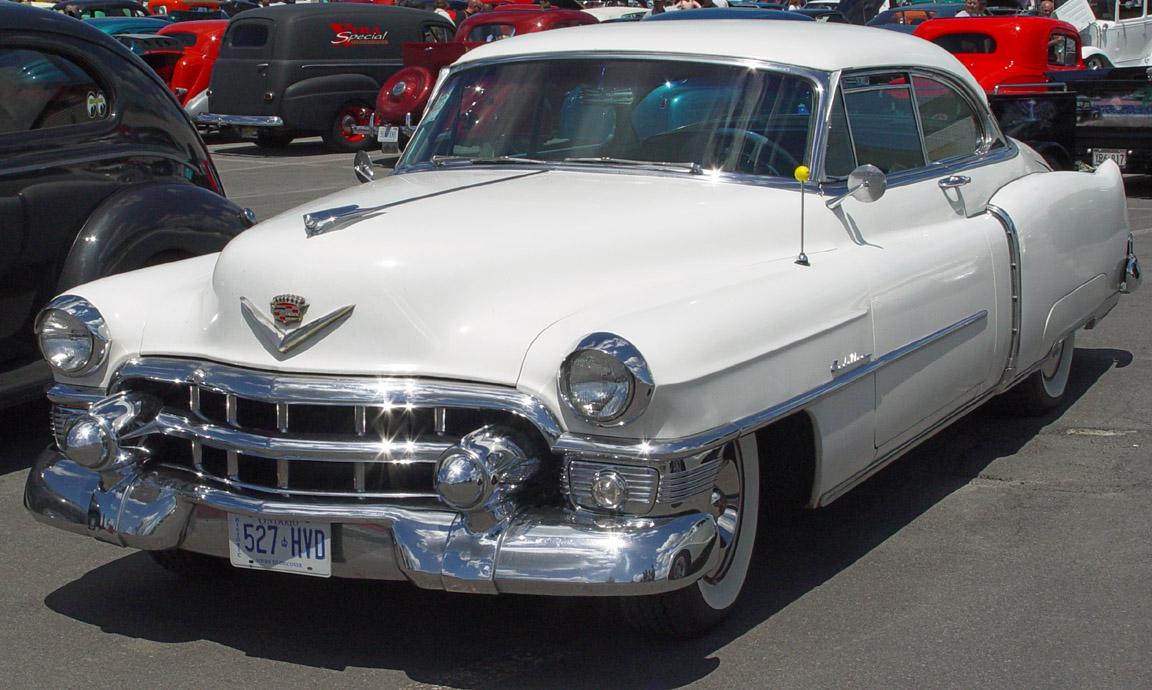 Cadillac Coupe-White-fa-sy 1953