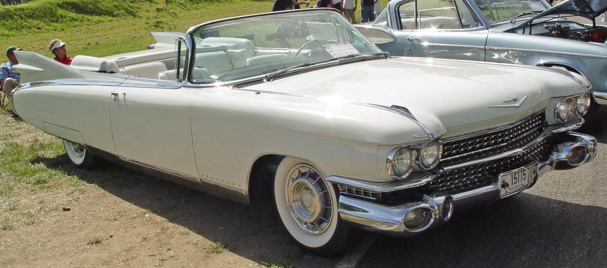 Cadillac Eldorado Biarritz Convertible 1959 white-fa-lr 1959
