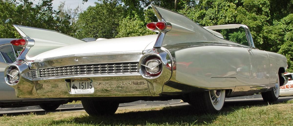 Cadillac Eldorado Biarritz Convertible 1959 -white-rear-lr 1959