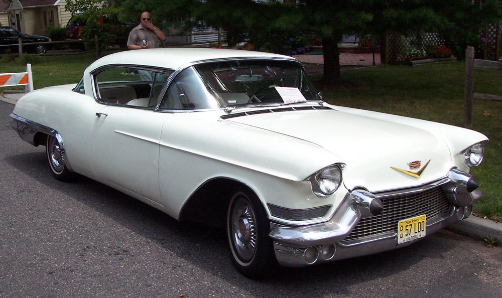 Cadillac Eldorado Seville 1957 -white-re 1957