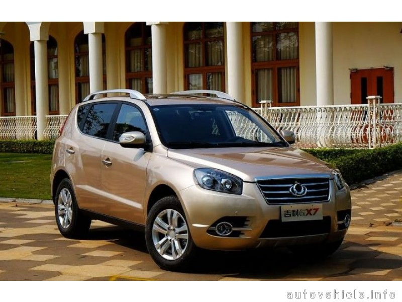 Geely Emgrand X7 2012 autovehicle