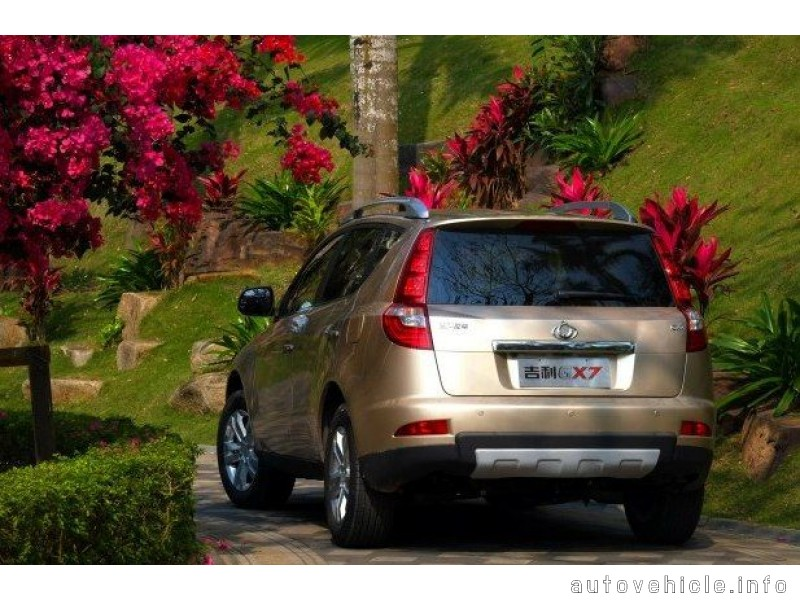 Geely GX7 2012 autovehicle info R