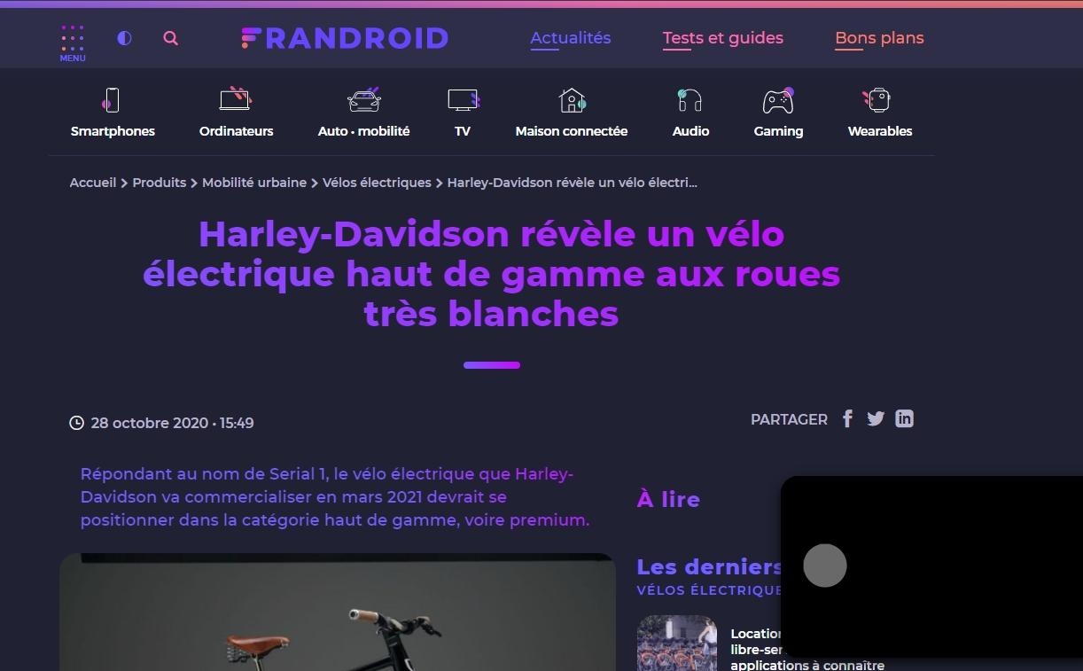 Harley vélopile