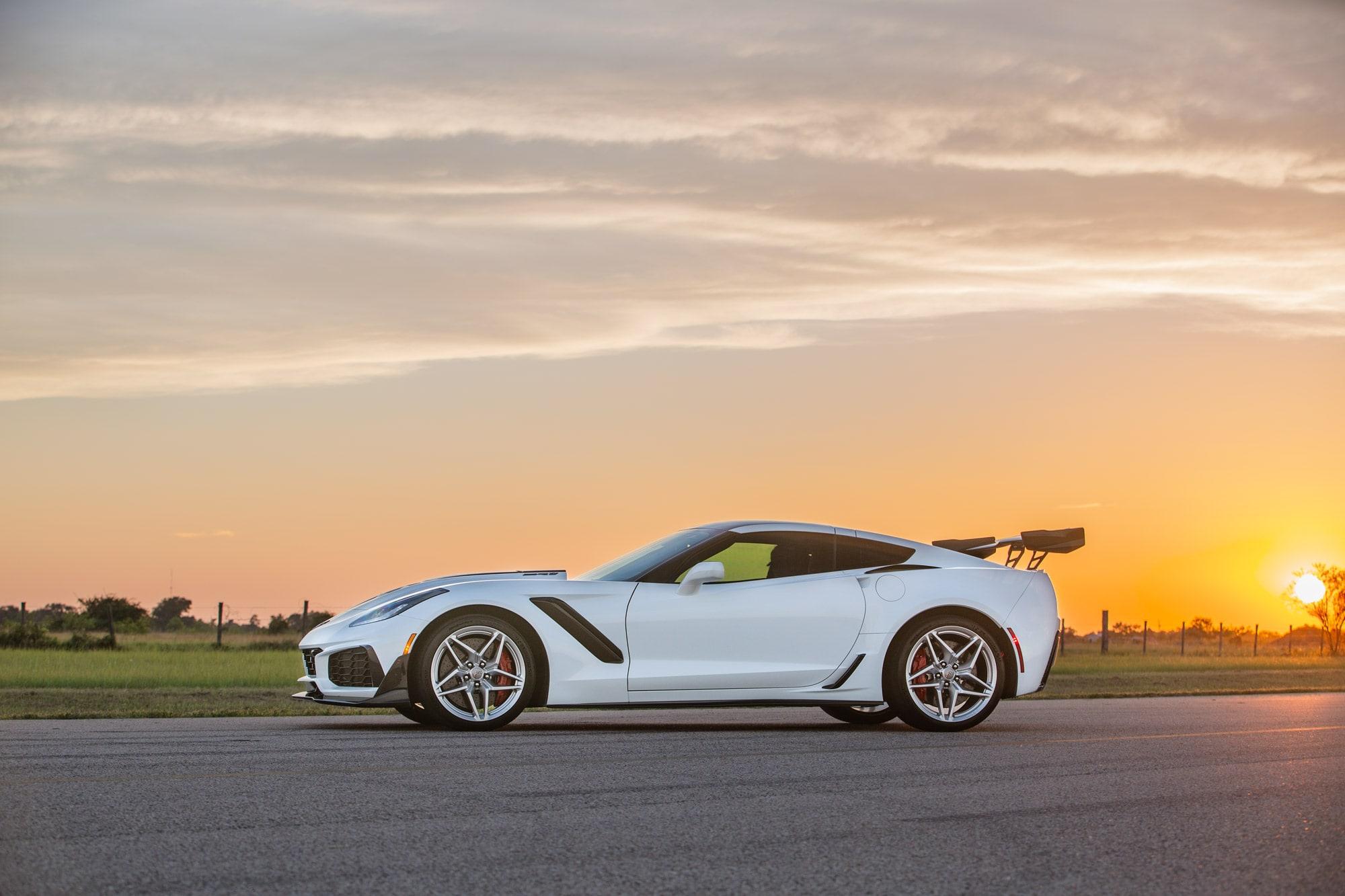 Hennessey Chevrolet Corvette ZR1 2019 ZR1-Corvette-2019-White-Hennessey12-min