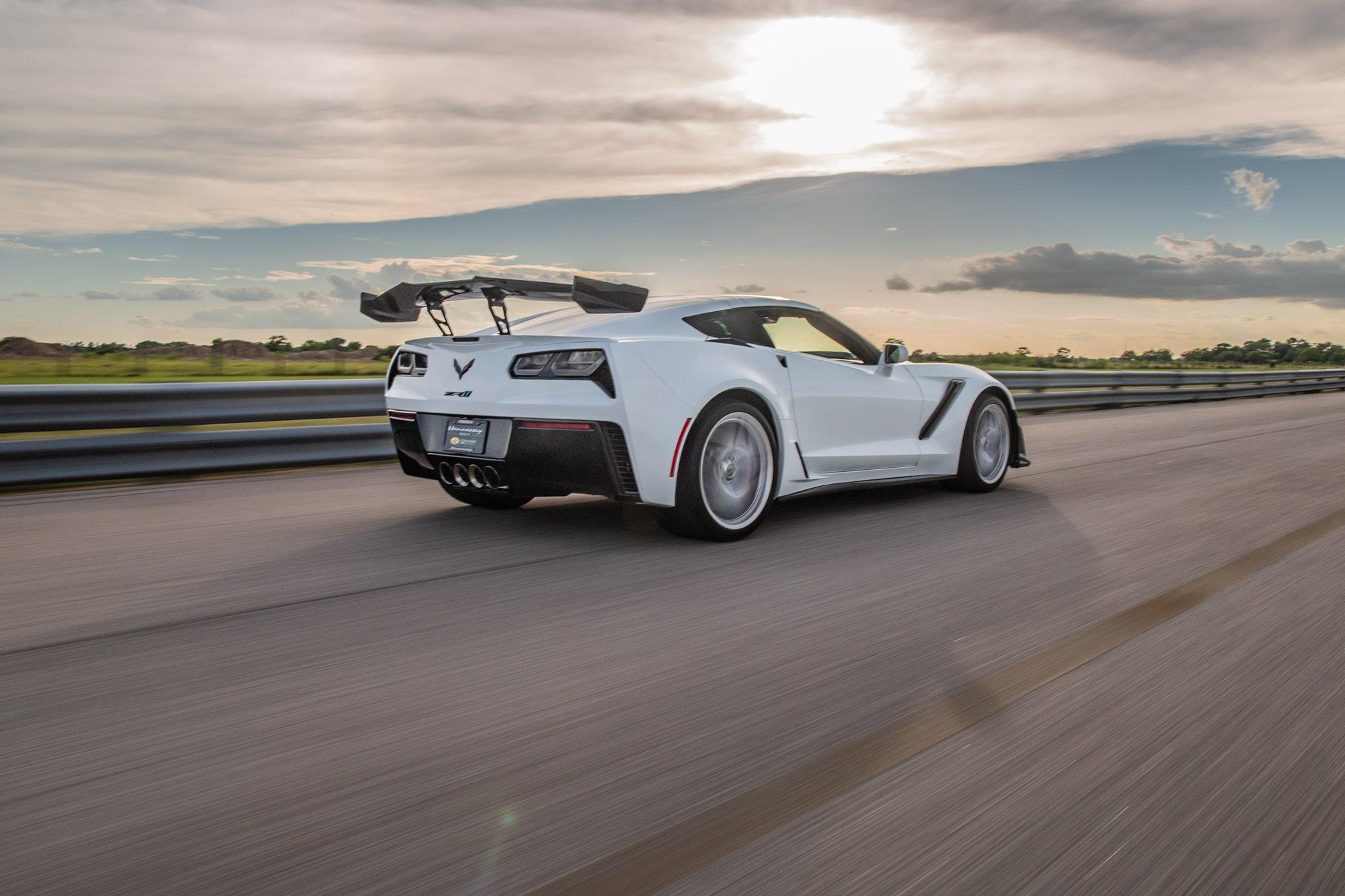 Hennessey Chevrolet Corvette ZR1 2019 ZR1-Corvette-2019-White-Hennessey3-min