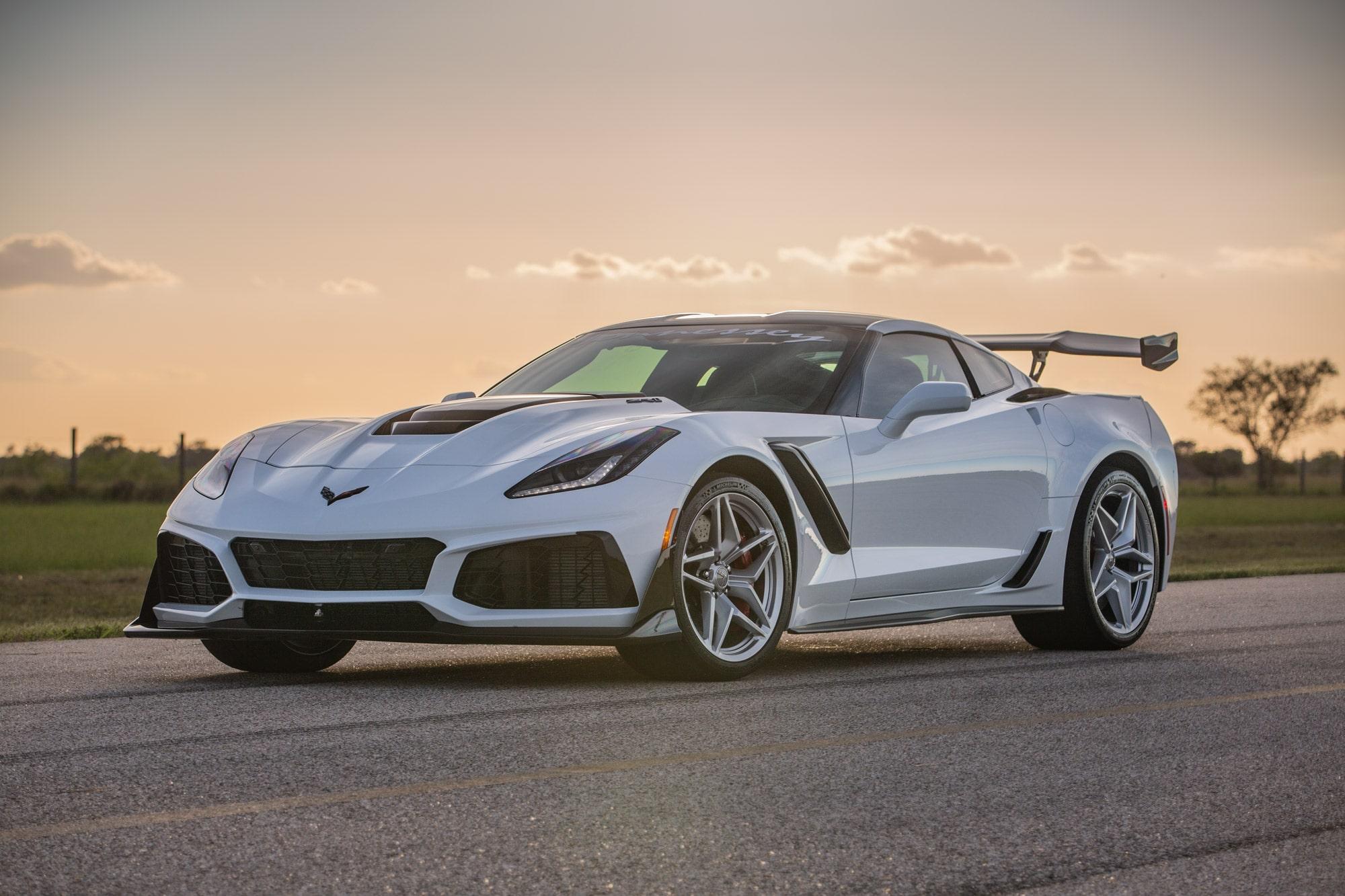Hennessey Chevrolet Corvette ZR1 2019 ZR1-Corvette-2019-White-Hennessey6-min