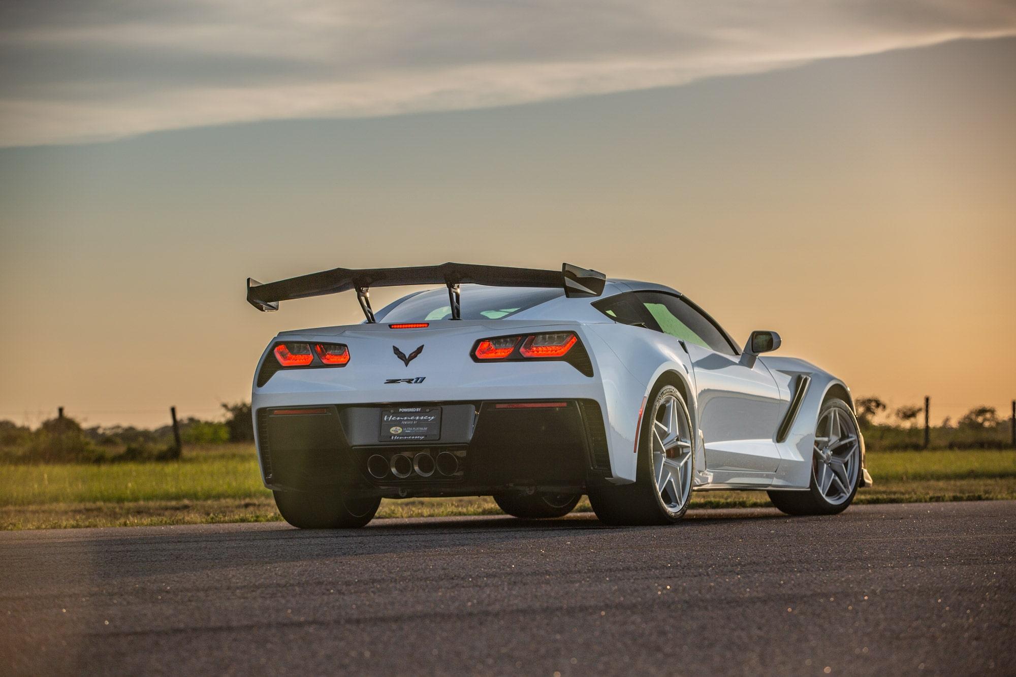 Hennessey Chevrolet Corvette ZR1 2019 ZR1-Corvette-2019-White-Hennessey8-min