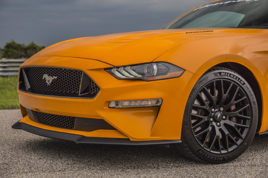Hennessey Ford Mustang GT HPE800 Supercharged 2018 2018-Mustang-GT-Orange-5-1024x682