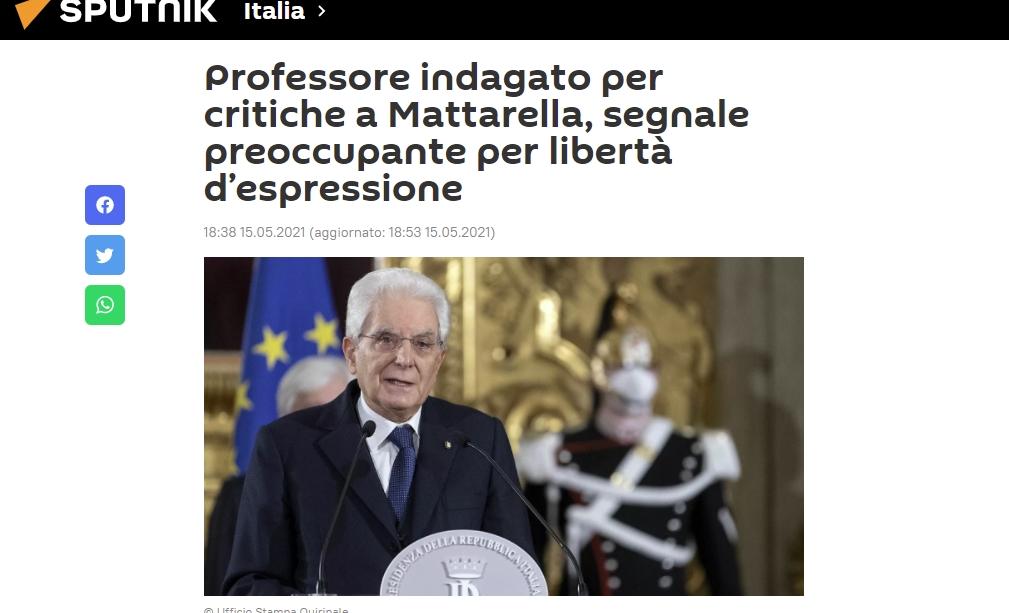 Mattarella interdit de le critiquer