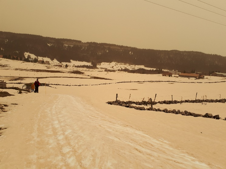 neige jaune, jura, photo ACCRO 2021 sable1