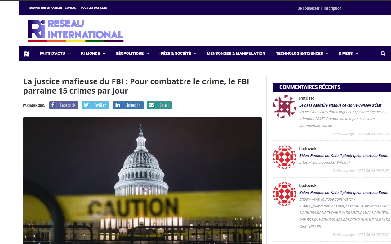 police mafieuse dans les démonocratie  reseauinternational net