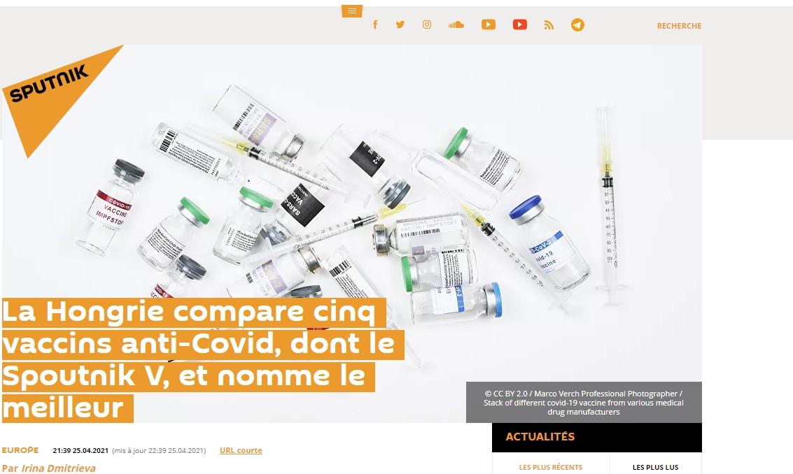 Spoutnik V, le meilleur vaccins en HU
