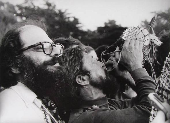 Ginsberg an Snyder at the Be-In