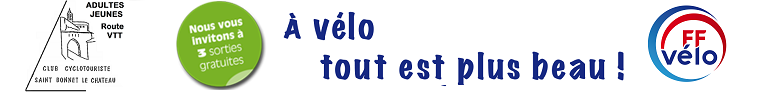 CLUB CYCLO de Saint Bonnet le Château