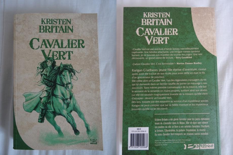 1er roman du cavalier vert achevé.fantasy épique très accrocheur,une très belle histoire.allez,en route pour le second tome.